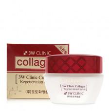 3W Clinic Лифтинг Крем для лица с коллагеном регенерирующий Collagen Regeneration Cream