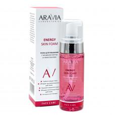 Aravia Laboratories Пенка для умывания с муцином улитки и гинго билоба Energy Skin Foam