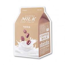 Укрепляющая тканевая маска с кофейным молоком A'Pieu Coffee Milk One-Pack