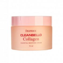 Увлажняющий крем для лица с гидролизованным коллагеном Deoproce Cleanbello Collagen Essential Moisture Cream