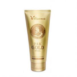 Пенка для умывания с экстрактом слизи улитки и золотом Elizavecca 24k Gold Snail Cleansing Foam