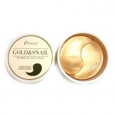 Гидрогелевые патчи для век с экстрактом слизи улитки и золота Esthetic House Gold & Snail Hydrogel Eye Patch