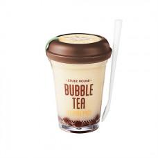 Ночная маска с экстрактом черного чая для сияния и упругости кожи Etude House Bubble Tea Sleeping Pack Black Tea