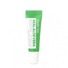 Бальзам для губ с алоэ FarmStay Real Aloe Vera Essential Lip Balm