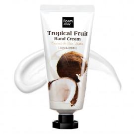 Крем для рук кокос и масло ши FarmStay Tropical Ftuit Hand Cream Coconut&Shea Butter