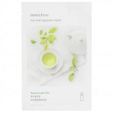 Маска увлажняющая с зеленым чаем Innisfree My Real Squeeze Mask Green Tea