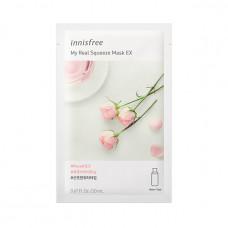 Маска восстанавливающая с розой Innisfree My Real Squeeze Mask Rose