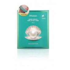 JM solution Маска для укрепления контура лица с протеином жемчуга Marine Luminous Pearl Lift-Up Mask