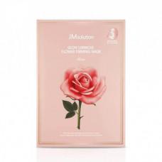 JM solution Маска для сияния кожи с экстрактом дамасской розы Rose Glow Luminous Flower Firming Mask