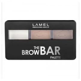 Lamel Набор для бровей, тени и воск, The Brow Bar Palette тон 402 темно-коричневый