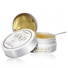 Гидрогелевые патчи для кожи вокруг глаз и для проблемных участков кожи лица с золотом и EGF Petitfee Gold EGF Eye & Spot Patch