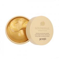 Гидрогелевые патчи с золотом и секретом улитки против морщин и припухлостей под глазами Petitfee Gold & Snail Hydrogel Eye Patch