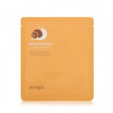 Маска гидрогелевая с золотом/муцин улитки Petitfee Gold & Snail Transparent Gel Mask Pack