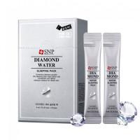 Маска ночная увлажняющая с алмазной пудрой и гиалуроновой кислотой Snp Diamond Water Sleeping Pack