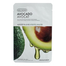 The face shop Маска для лица с экстрактом авокадо Real Nature Avokado Face Mask